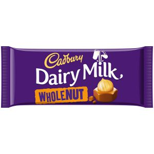 Σοκολάτα Γάλακτος Cadbury Dairy Milk Wholenut 120g