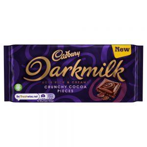 Σοκολάτα Γάλακτος Cadbury Limited Edition Darkmilk Crunchy Cocoa Pieces 85g