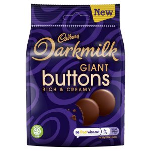 Σοκολατάκια Γάλακτος Cadbury Darkmilk Giant Buttons 90g