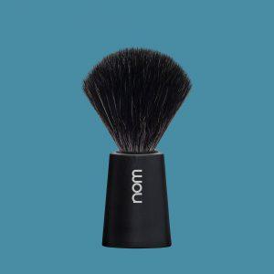 Πινέλο Ξυρίσματος Nom Carl με μαύρες ίνες plastic Black