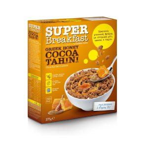 Δημητριακά με Βρώμη Ολικής Άλεσης Super Breakfast Honey Cocoa Tahini 375g