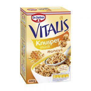 Δημητριακά Μούσλι με Μέλι Dr. Oetker Vitalis Knusper Honeys 600g