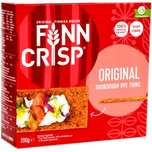 Φρυγανιές Σίκαλης Ολικής Άλεσης Finn Crisp Original 200g