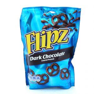 Σνακ Πρέτζελ Flipz Dark Chocolate Coated Pretzels 100g