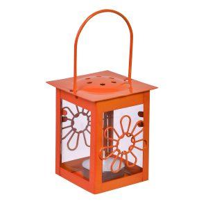Φανάρι – Λουλούδι Κρεμαστό Πορτοκαλί 6×12 cm