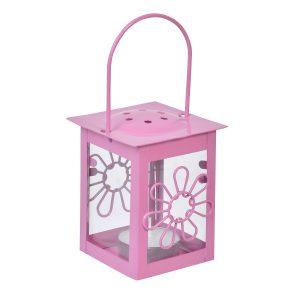 Φανάρι – Λουλούδι Κρεμαστό Ροζ 6×12 cm