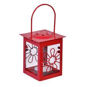 Φανάρι – Λουλούδι Κρεμαστό Κόκκινο 6×12 cm