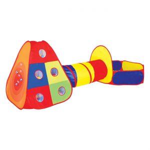 Παιδική Σκηνή με Τούνελ και Παιδότοπο 300x120x100cm