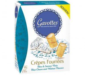 Αλμυρά Μπισκότα Κρέπα Gavottes Crepes Fourrees Blue Cheese Walnut 60g