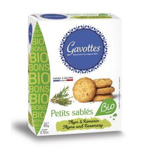 Αλμυρά Μπισκότα Gavottes Petit Sables Bio Thyme Rosemary 60g