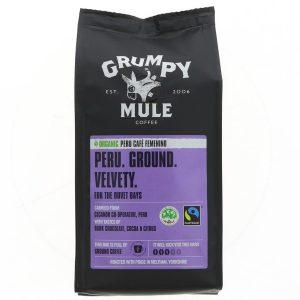 Καφές Grumpy Mule Peru Femenino Organic Ground Coffee 227g