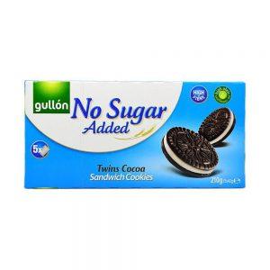 Μπισκότα Γεμιστά Gullon No Added Sugar Twins Cocoa Sandwich Cookies 210g