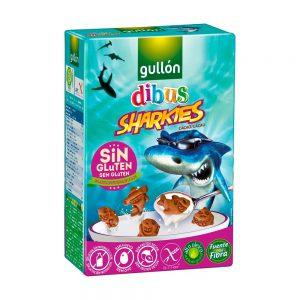 Παιδικά Μπισκότα Χωρίς Γλουτένη Gullon Cacao Dibus Sharkies 250g