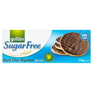 Μπισκότα Χωρίς Ζάχαρη Gullon Sugar Free Dark Choc Digestive Biscuits 270g