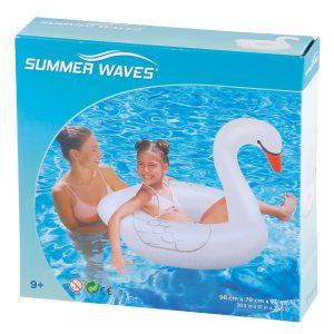 Φουσκωτή Σαμπρέλα Κολύμβησης Κύκνος Summer Waves 98x79x75cm