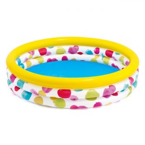 Παιδική Πισίνα Κίτρινη Χρωματιστά Πουά Intex 168x38cm 52343