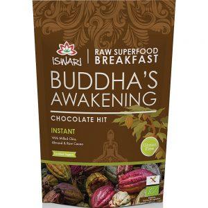 Μείγμα Υπερτροφών για Πρωινό Βιολογικό Χωρίς Γλουτένη Iswari Buddhas Awakening Chocolate Hit 360g