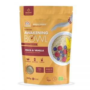 Μείγμα Υπερτροφών για Πρωινό Βιολογικό Χωρίς Γλουτένη Iswari Buddhas Awakening Maka Vanilla 360g