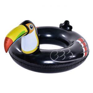 Φουσκωτή Σαμπρέλα Κολύμβησης Μαύρο Tucan Jilong 115cm 20181105