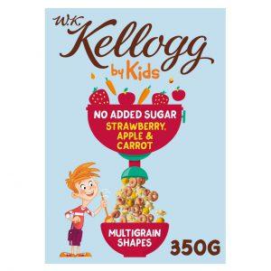 Παιδικά Δημητριακά Kelloggs WK by Kids Strawberry Apple and Carrot Multigrain Shapes 350g