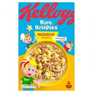 Παιδικά Δημητριακά Kelloggs Rice Krispies Multigrain Shapes 350g