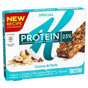 Μπάρα Πρωτεΐνης με Καρύδα Kelloggs Special K Protein 23% Cocoa and Nuts 4x28g