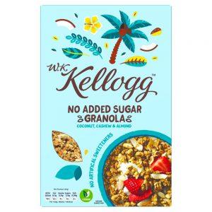 Δημητριακά Kelloggs WK Granola No Added Sugar Coconut Cashew and Almond 300g