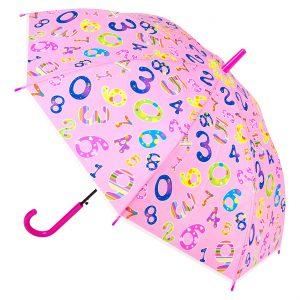Παιδική Ομπρέλα Μπαστούνι Ροζ Numbers 48.5cm