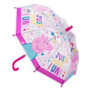 Παιδική Ομπρέλα Μπαστούνι Ροζ Peppa The Pig 60cm