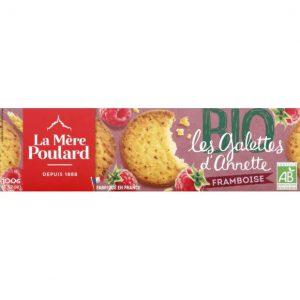 Μπισκότα Βατόμουρο Βιολογικά La Mere Poulard Les Galettes d Annette Framboise BIO 100g