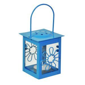 Φανάρι – Λουλούδι Κρεμαστό Γαλάζιο 6×12 cm