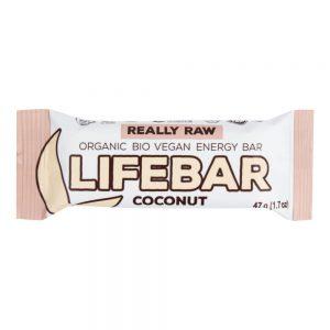 Μπάρα Ενέργειας Χωρίς Γλουτένη Vegan Lifefood Lifebar Coconut Raw Bio Energy Bar 47g