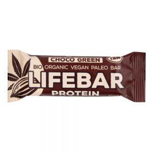 Μπάρα Πρωτεΐνης Χωρίς Γλουτένη Vegan Lifefood Lifebar Protein 20% Choco Green Raw Bio Paleo Bar 47g