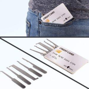 Σετ Εργαλείων Ξεκλείδωμα Κλειδαριών LockCowboy Lock Pick Set 20 Pieces False Key Credit Card Transparent Padlock