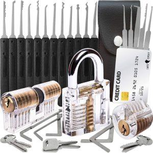 Σετ Εργαλείων Ξεκλείδωμα Κλειδαριών LockCowboy Premium Lock Pick Set 30 Pieces False Key Credit Card Transparent Padlock