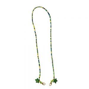 Αλυσίδα Μάσκας Αξεσουάρ Παιδικό Χειροποίητο The Mamacita Store Mask Accessories Green Stars Beaded Chain