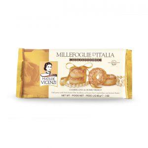 Μπισκότα Σφολιάτας Βουτύρου Matilde Vicenzi Millefoglie d Italia Alta Pasticceria 85g