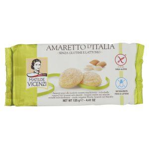 Μπισκότα Αμαρέτο Χωρίς Γλουτένη Χωρίς Λακτόζη Matilde Vicenzi Amaretto d Italia 125g