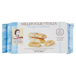 Μπισκότα Σφολιάτας Χωρίς Λακτόζη Matilde Vicenzi Millefoglie d Italia Senza Lattosio 125g
