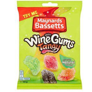 Ξινές Καραμελότσιχλες Maynards Bassetts Wine Gums Tangy 165g