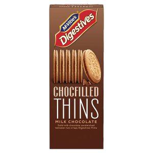 Μπισκότα McVities Digestive Milk Chocolate Chocfilled Thins 130g