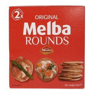 Φρυγανιές Σταρένιες Μίνι Στρογγυλές Melba Rounds Original 110g