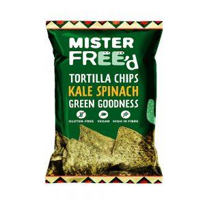 Τσιπς Τορτίγιας Mister Freed Kale and Spinach Tortilla Chips 135g