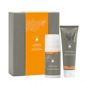 Muhle Sea Buckthorn Shaving Set | Shaving Cream 75ml | Aftershave Balm 100ml