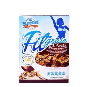 Δημητριακά Ολικής Άλεσης Mr. Breakfast Fitgrain Dark Chocolate 375g