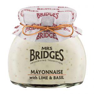 Μαγιονέζα Mrs Bridges Mayonnaise with Lime and Basil 180g
