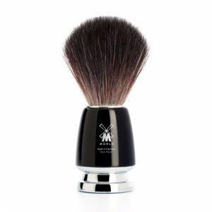 Πινέλο Ξυρίσματος Muhle Με Συνθετική Ίνα Rytmo Black Fibre High Grade Resin Black Brush 21 mm