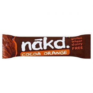 Μπάρα Φρούτων και Ξηρών Καρπών Nakd Cocoa Orange 35g