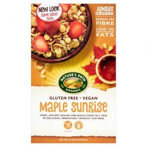 Δημητριακά Ολικής Άλεσης Βιολογικά Χωρίς Γλουτένη Vegan Natures Path Maple Sunrise 332g