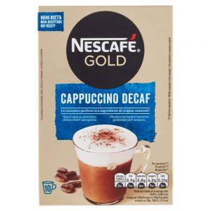 Στιγμιαίο Ρόφημα Καφέ Nescafe Gold Cappuccino Decaf 10×12.5g